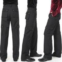 New Arrival Latin Dance Pant For Male Black Color Pocket Plus Size Trousers Children Professional Sexy Men Boy Dancing Pant B153