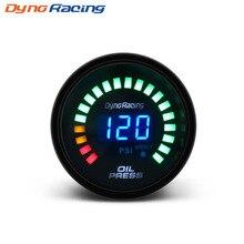 цена на Car Motor Auto 2 52mm Digital Smoked 20 LED Psi Oil Press Pressure Meter Gauge With Sensor car meter  auto gauge  YC100097