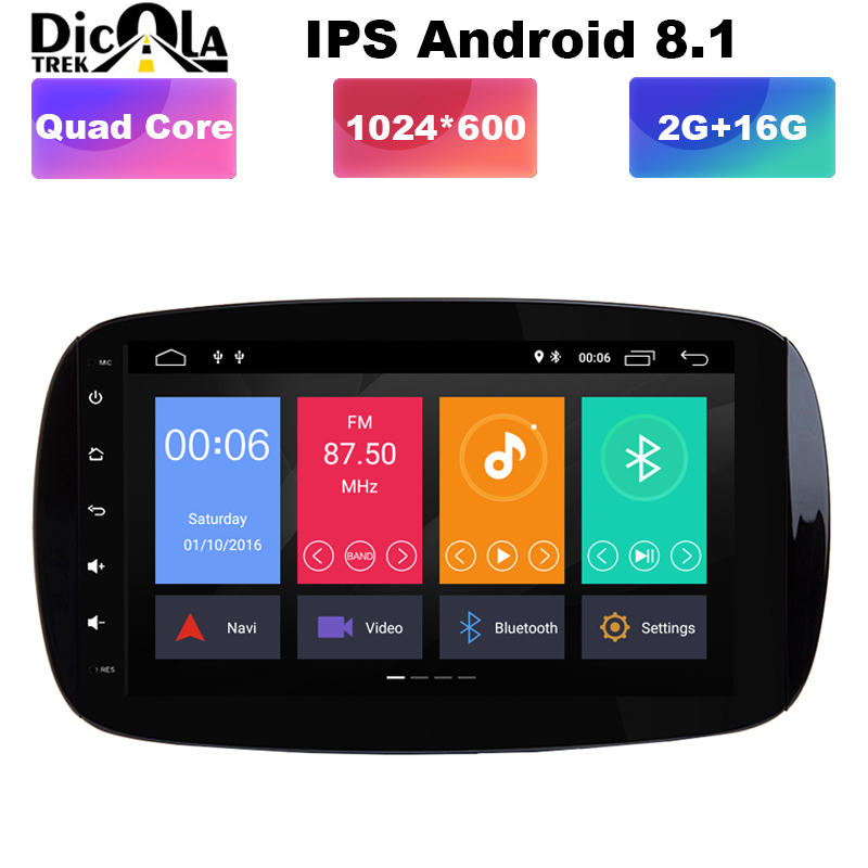 Android 8 1 9 IPS HD full touch screen Car DVD radio Player For Benz SMART