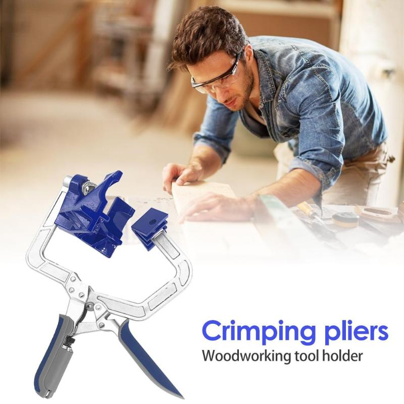 Image 4 - 90 Degree Right Angle Woodworking Clamp Picture Frame Corner Clip Hand Tool Clamps For Woodworking-in Clamps from Home Improvement