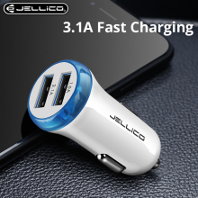 Jellico Dual USB Car Charger For Phone 5V 3.1A Mobile Phone