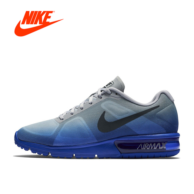 nike air max sequent blauw heren