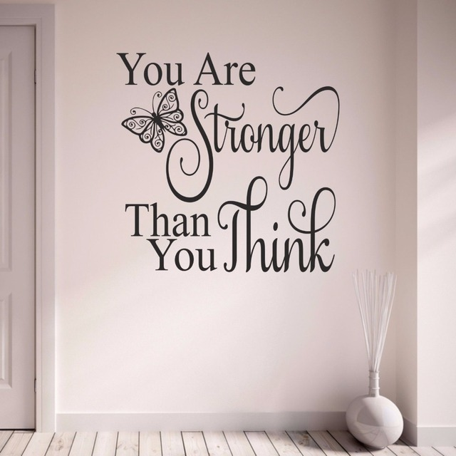 You Are Stronger Than You Think Butterfly Motto Inspirational Quote