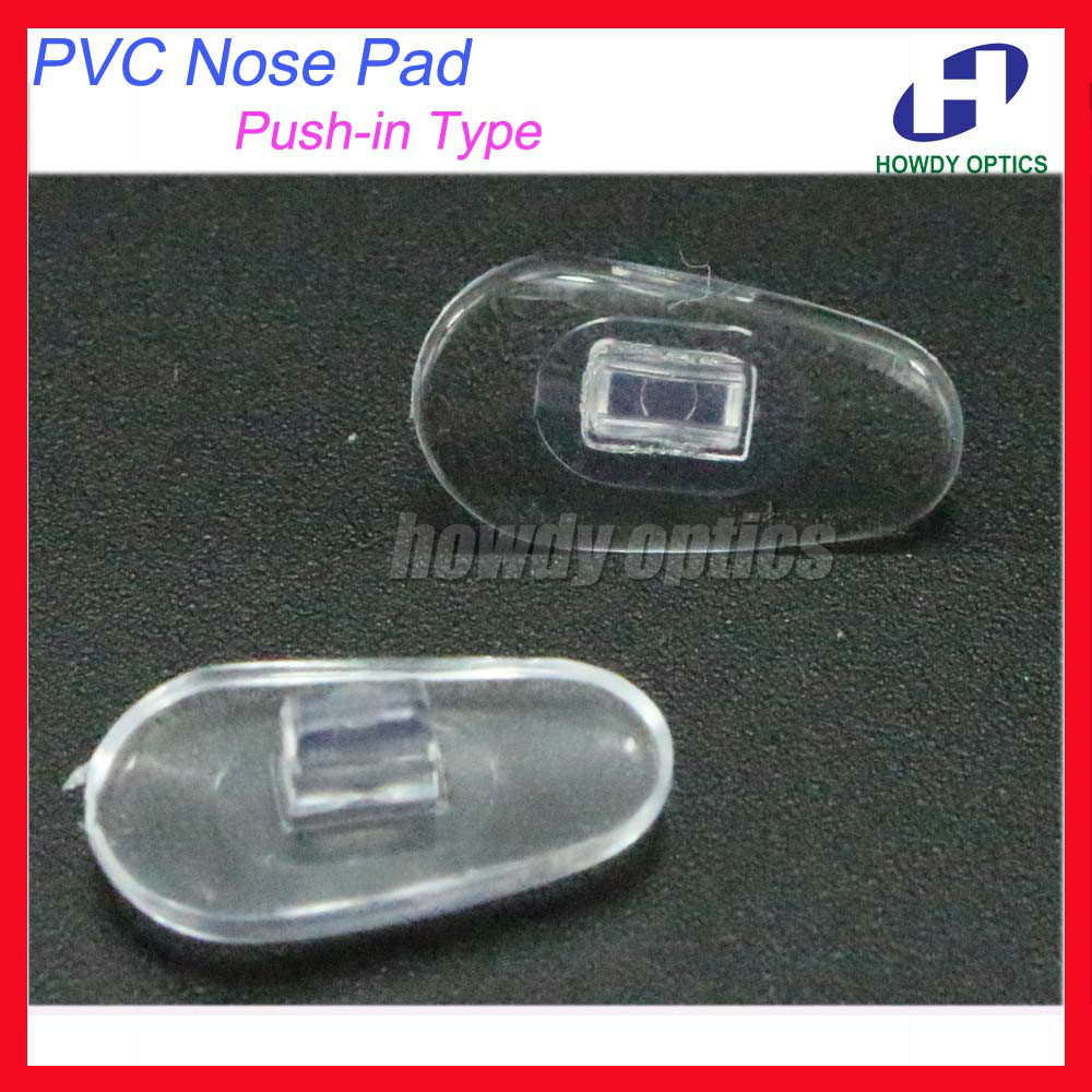 6e01ac36f696 500 unids lote ojo Gafas almohadillas de nariz del PVC tamaño 14mm Push-in  tipo Gafas Accesorios