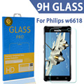 TOMORAL 9H 2.5D Nanometer Explosion-Proof Tempered Glass Screen Protector Guard Film For Philips Xenium W6610 W6618 in stock