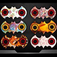 Random Color Fidget Spinner Batman Style Hand Spinner Desk Focus Toy EDC Stocking Stuffer Fidget Toy