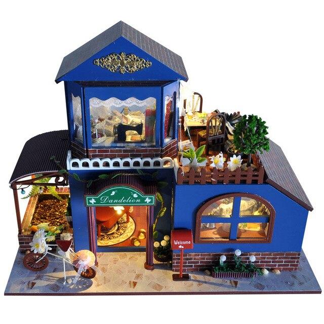 Christmas Gift  Handmade Doll House Furniture Miniatura Diy Doll Houses Miniature Dollhouse Wooden Children Grownups TB7