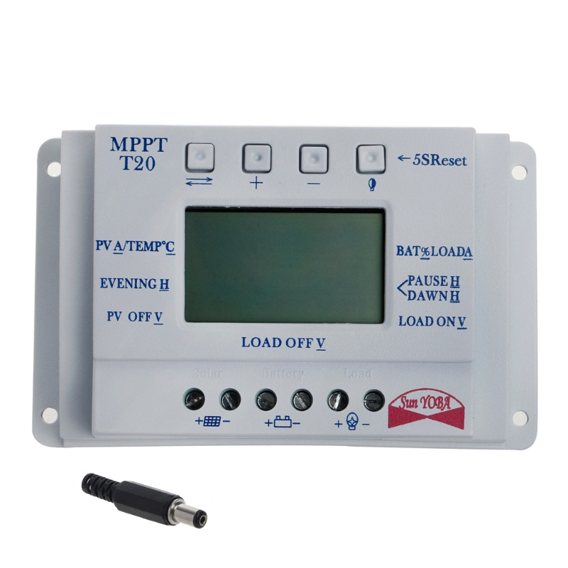 все цены на  LCD 20/30/40A 12V/24V MPPT Solar Panel Battery Regulator Charge Controller T20 3 Timer L15  онлайн