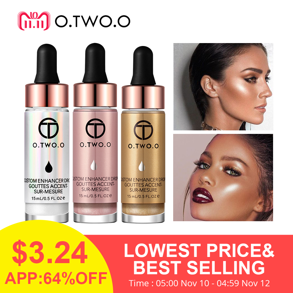 O.TWO.O Liquid Highlighter 6 Colors illuminating Make Up Cream Concealer Shimmer Shine Lips Face Bronzer Highliter Glow Kit