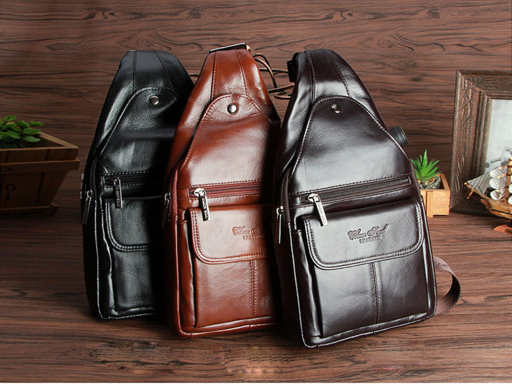 Men Genuine Leather Sling Chest Day Pack Fashion Travel Cross Body Messenger Shoulder Bag advu 50 35 a p a advu 50 40 a p a advu 50 45 a p a advu 50 50 a p a advu 50 60 a p a festo compact cylinders