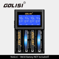 Golisi S4 2.0A LCD Battery Charger Intelligent Rechargeable Battery Fast Charging for 18650 20700 26650 Li ion Batteries Charger