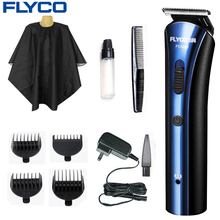 лучшая цена FLYCO Rechargeable Electric Hair Clipper Hair Trimmers Professional Cutting Haircut Tools Shaving Machine for Men or Baby FC5806