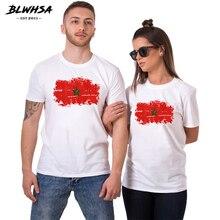 8032f577b4f BLWHSA Lovers Couples t shirt Printed Morocco Flag Women Tee shirts  Harajuku Hipster hip hop Couple