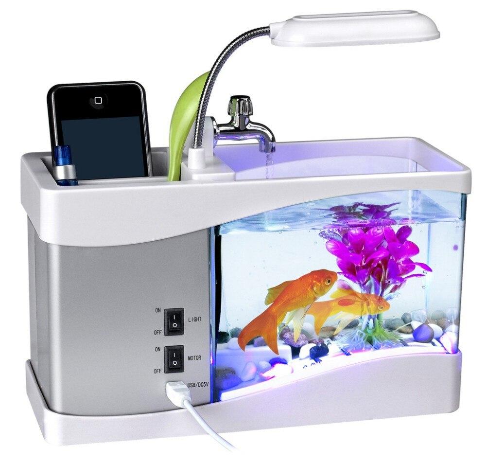 office desk fish tank.  tank usb creative aquarium pencil holder multi functional ecology mini fish tank  desk organizer office supplies pen with lampin pen holders from office  and desk fish tank