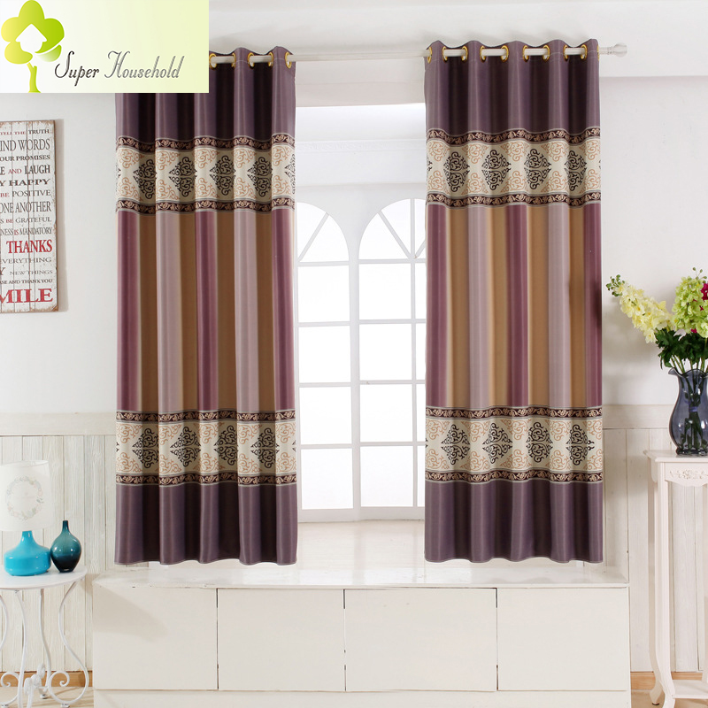 Single Panel Modern Window Curtains For Kitchen/ Living