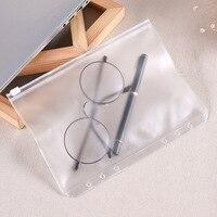 20PCS A6 Size Waterproof Transparent PVC Document File Binder Loose Leaf Pockets Folders Bags for Home School Office