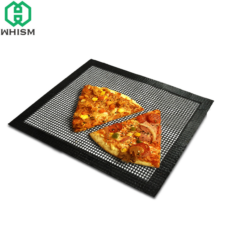 WHISM Teflon Grill Mat 40x33cm Baking Mat Non-Stick Barbecue Pat Heat Resistance Oven Sheet Liner for Cookie Bread Biscuits