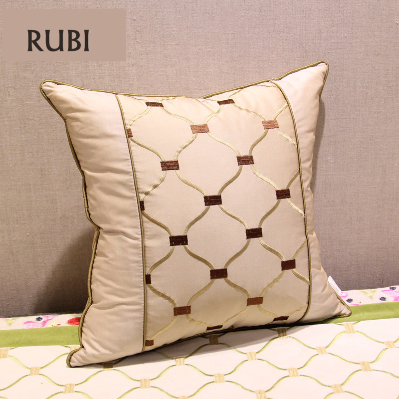 Rubi embroidered sofa throw throw pillows decorative for Luxury decorative throw pillows