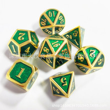 7Pcs Zinc alloy Game Dices Set Board Metal Dice Durable Entertainment 46 8 10 12 20 Sided Table Dungeons & Dragon
