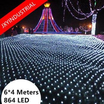 6M * 4M neto 860 LED hadas Cadena de luz de Navidad de la boda de hadas Cadena de luz con 8 función controlador de la UE/EE. UU/Reino Unido enchufe