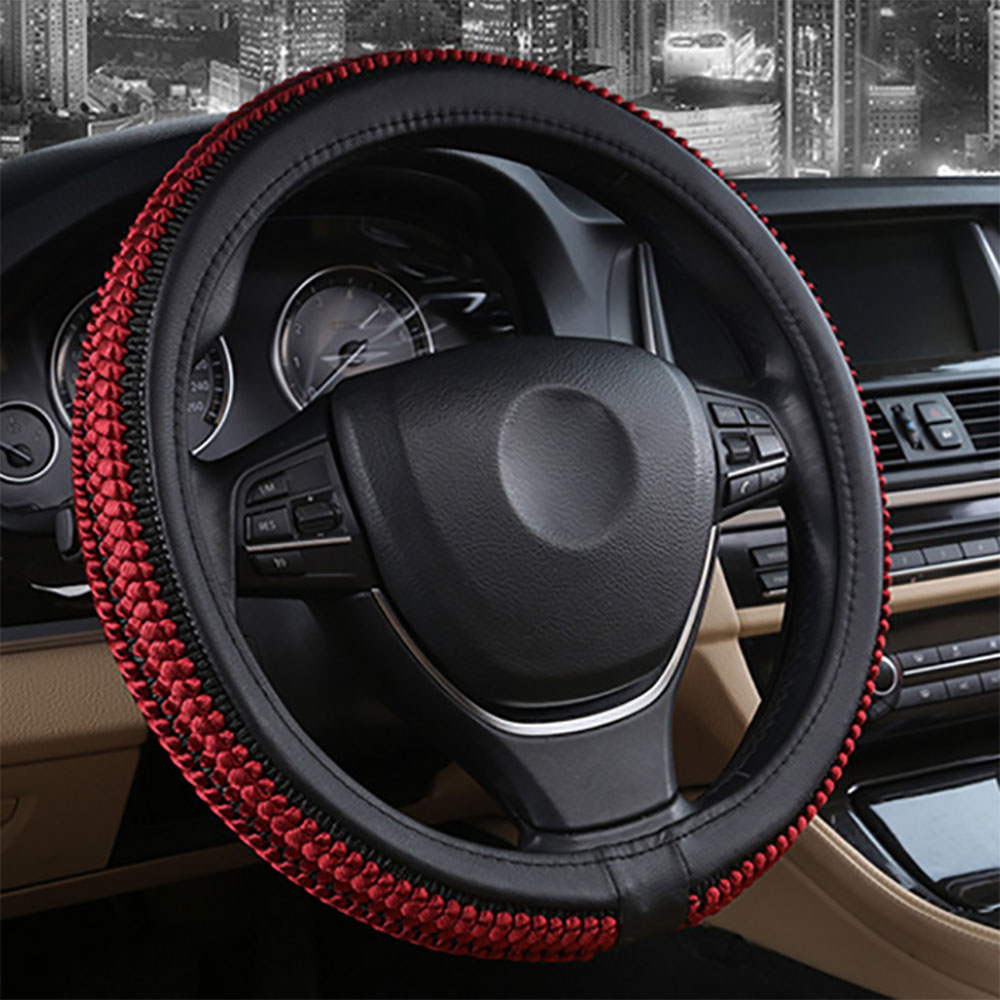 fashion design steering wheel cover decorative automotive interior environmental protection soft. Black Bedroom Furniture Sets. Home Design Ideas