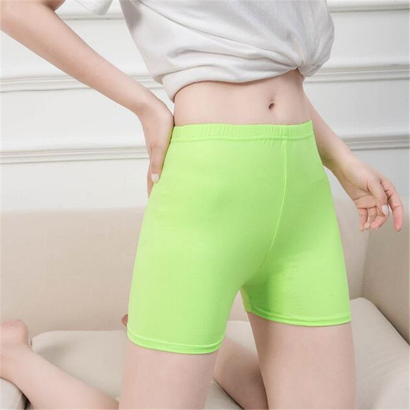 NDUCJSI Fashion Summer Casual   Shorts   Woman 2019 Stretch High Elastic Fitness   Shorts   Female White Green Sexy   Short   Candy Color