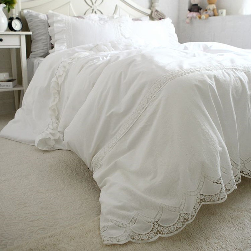 Top Luxury Bedding Set Embroidered Lace Duvet Cover