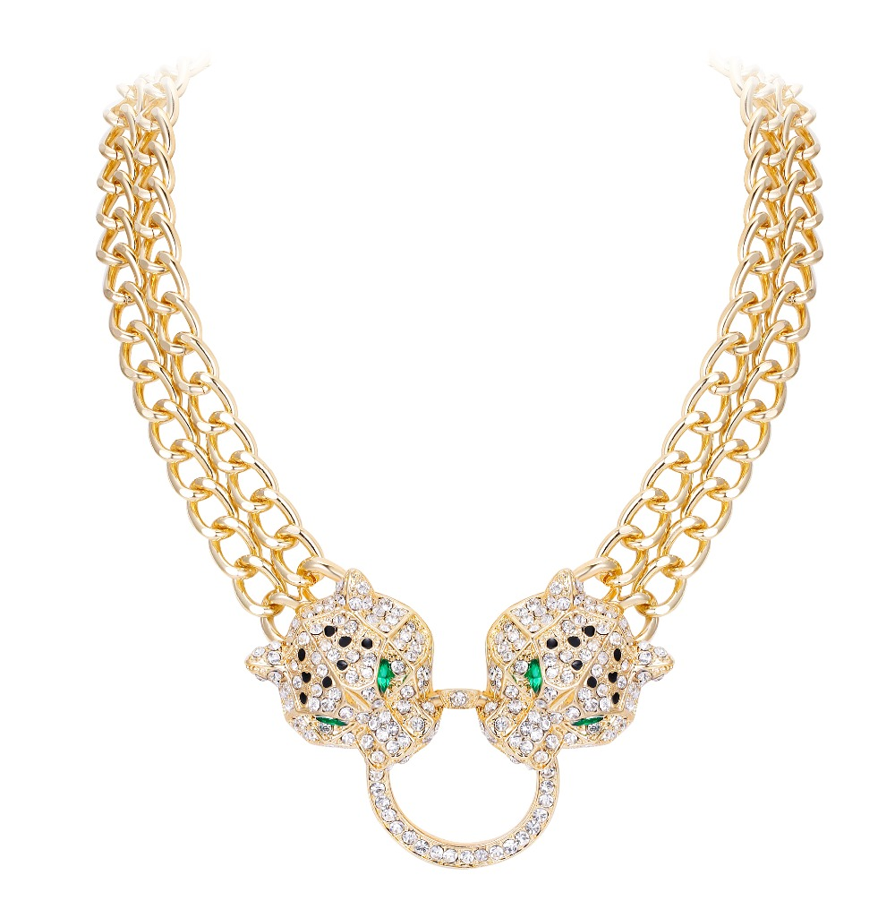 Image 5 - Tuliper подвеск ожерелье Necklace Choker Panther Leopard Animal Crystal Statement Necklace For Women Party Jewelry Gift collares-in Choker Necklaces from Jewelry & Accessories