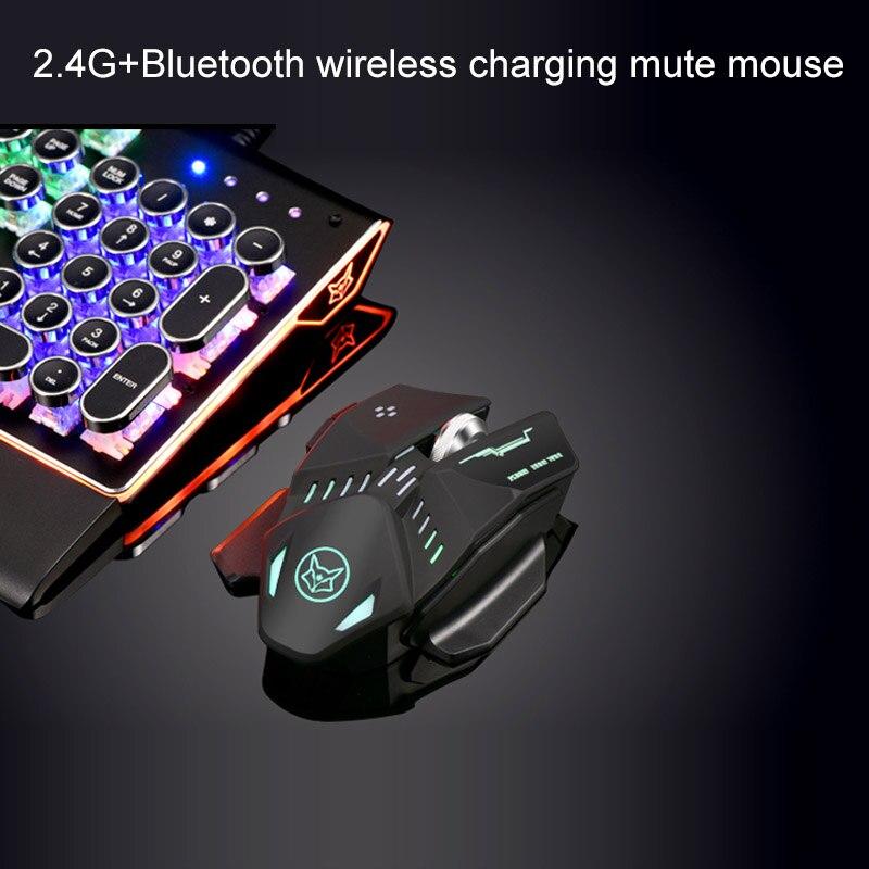 Nouveau bluetooth + 2.4G double mode 1600 dpi sans fil rechargeable souris de jeu avec câble pour LOL CF jeu souris bureau windows OS