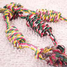 Hot Sale Dog Rope Toy Knot Interactive Cotton Rope Ball Puppy Chew Teething Toys Teeth Cleaning Candy Knot Pet Supplies 30cm pet dog puppy chew tug teeth cleaning knot toy tennis ball w rope