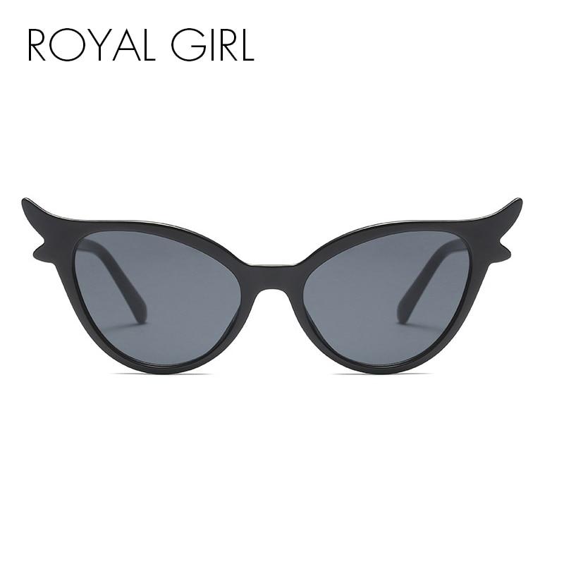 5b7baa2792258 ROYAL FILLE 2018 Noir Cat Eye lunettes de Soleil Femmes Marque Designer  Vintage Petit Cadre Lunettes de Soleil Rétro Partie Femelle Lunettes ss319  dans ...