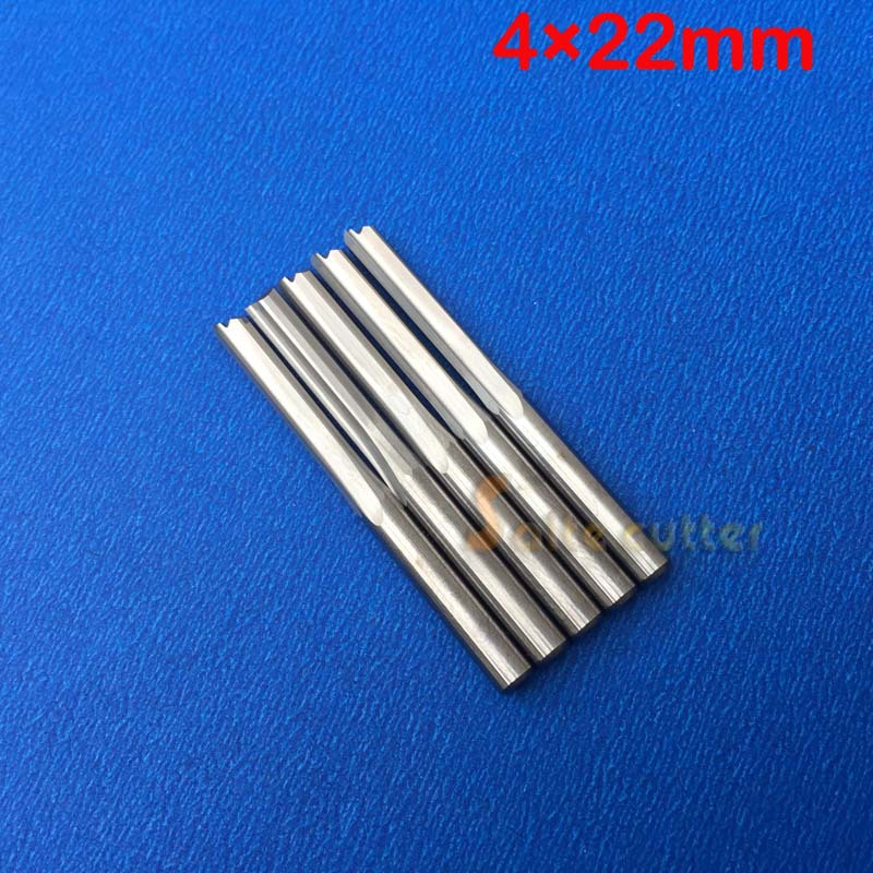 5pcs Double Flute Straight Slot Carbide Cutters CNC Router Bits 4 *22mm free shipping 5pcs lot new 4mm hq carbide cnc router bits double flute aluminum cutting tools 3mm 8mm