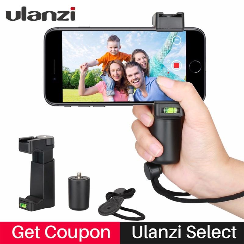 Ulanzi Handheld Phone Video Holder Clamp Grip Bracket Stabilizer with Hot Shoe 1 4 Screw Phone