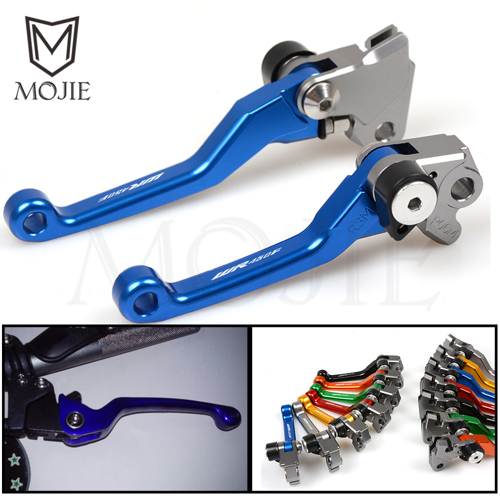 For Yamaha WR450F WR 450F 450 F WR450 F 2001-2015 and 2016-2018 2017 2014 2013 2012 2011 CNC Pivot Brake Clutch Levers Dirt Bike for honda vfr 1200 f 2010 2011 2012 2013 2014 2015 2016 laser logo vfr1200f sliver titanium cnc motorcycle brake clutch levers