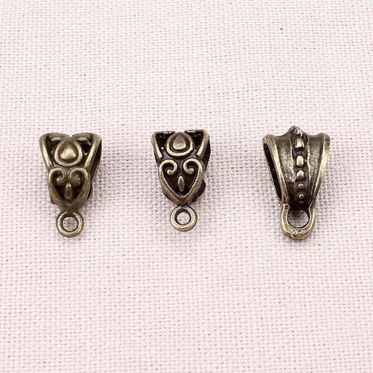20pcs lot Zinc Alloy Antique Silver Bronze Necklace Pendant Carrier Connector DIY Jewelry Findings in Jewelry Findings Components from Jewelry Accessories