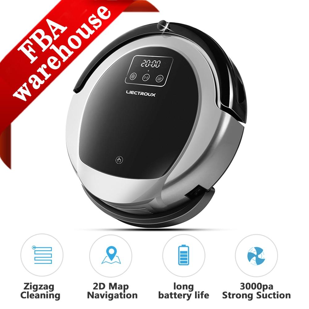 LIECTROUX Robot Vacuum Cleaner Upgrade B6009,Smart Memory,2D Map&Gyroscope Navigation,3000pa Suction, Big Dustbin, Wet Dry Mop