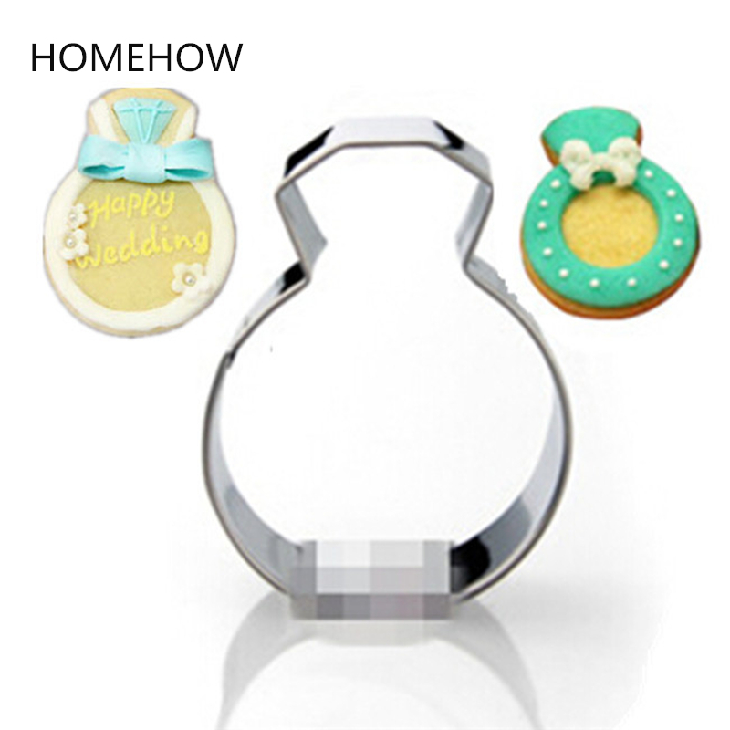 1PC/Lot Wedding Rings Cookie Cutter 6*4.3cm <font><b>Inox</b></font> Metal Cupcake Cake Decorating <font><b>Tools</b></font> <font><b>Kitchen</b></font> Accessories Baking <font><b>Tools</b></font> image