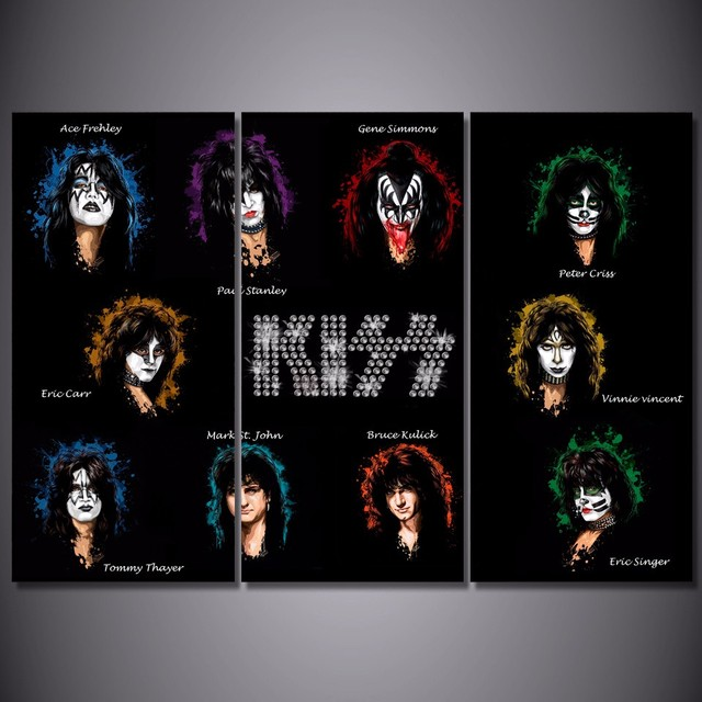 Promotion High Quality HD Printed kiss Band Painting Canvas Print     Promotion High Quality HD Printed kiss Band Painting Canvas Print room  decor print poster picture canvas