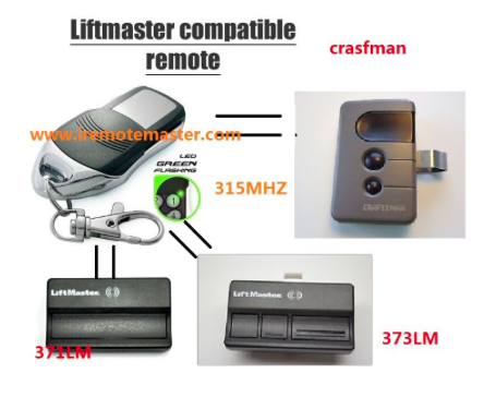 Replacement remote for LiftMaster 371LM 372LM 373LM Garage Door Opener Remote control