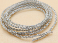 2pcs 1.2M 3.9ft DIY High Purity 4 Stands silver plate earphone Cable OCC Copper Wire cable 2 meter