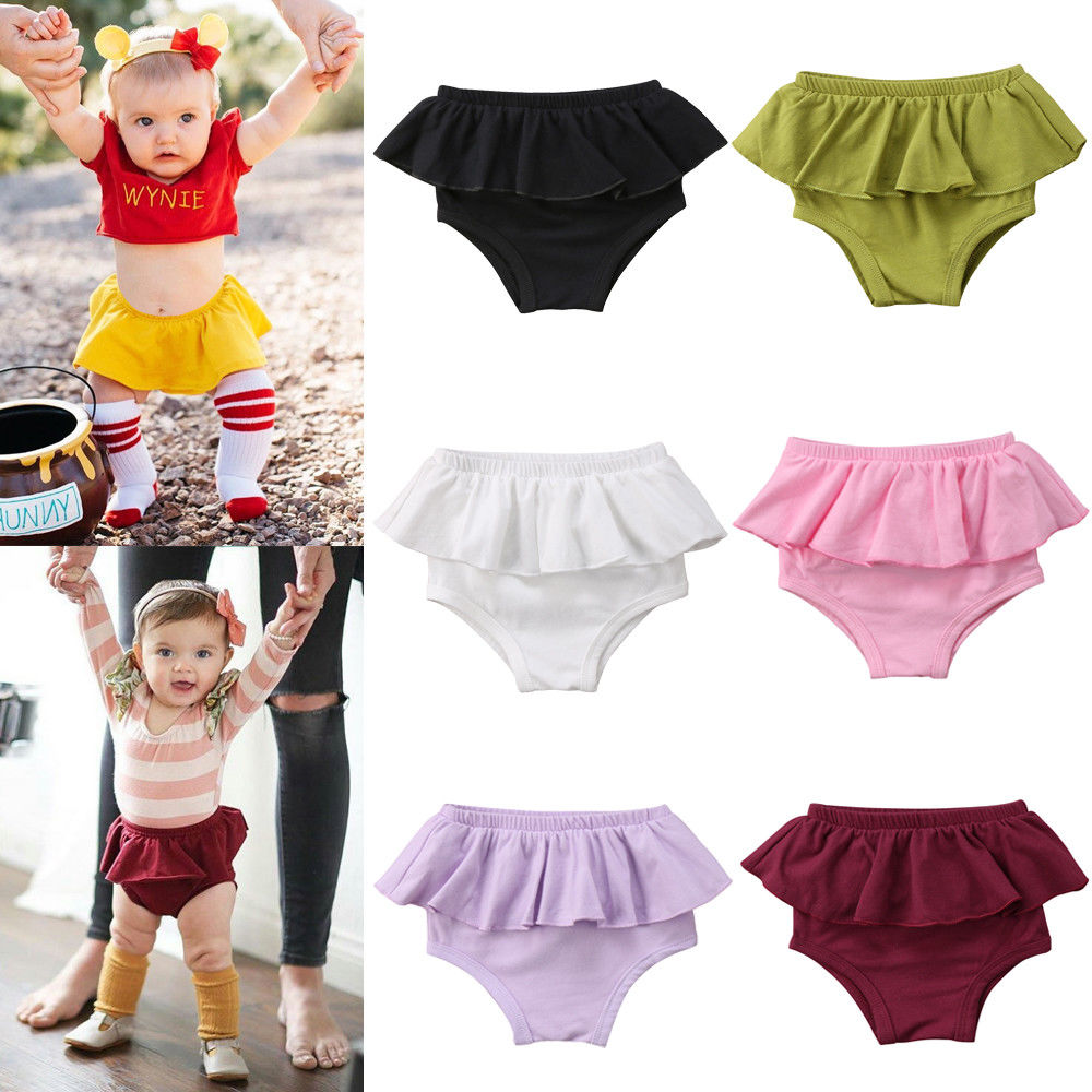 Ruffle Diaper Cover Pants Bottom Shorts Bloomer Cake Smash for Toddler Baby Girl