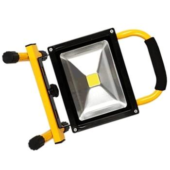 Foco LED linterna portátil enchufe UE 10 W con batería de 3 horas de duración 800 lúmenes portátil e inalámbrico