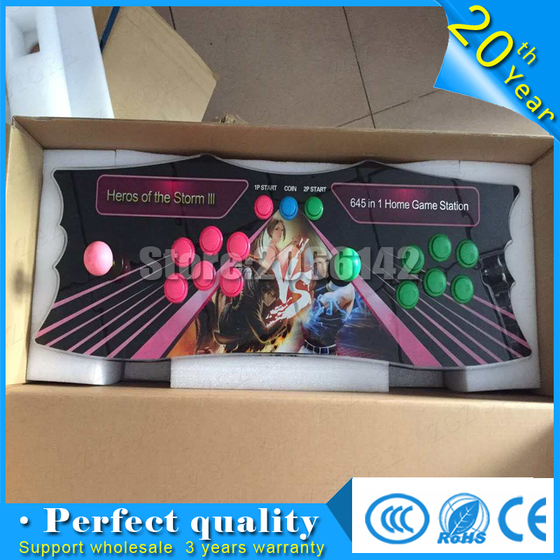 good quality family console Pandora 645 in 1 games Box 4 with VGA and HDMI  Output two players  SANWA BUTTON sanwa button and joystick use in video game console with multi games 520 in 1