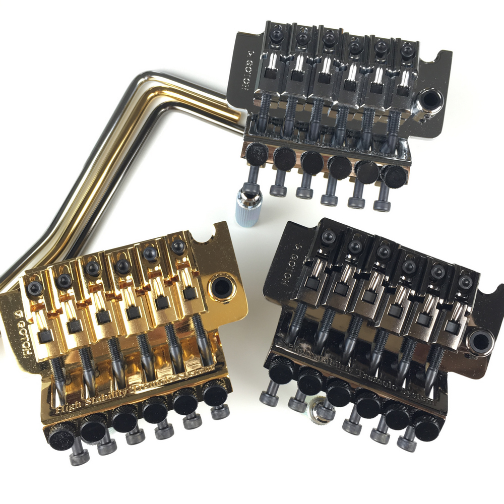 Original Genuine GOTOH GE1996T Locking Tremolo System Bridge Without Locking Nut ( Chrome Black Gold ) MADE IN JAPAN lm64c142 industrial lcd original made in japan a in good condition