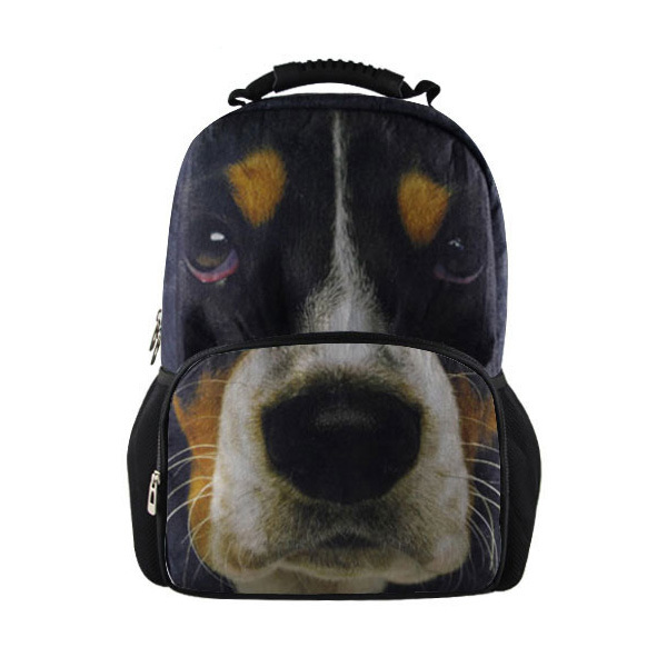 Cool Men Casual Laptop Backpack Basset Hound Print Middle School Backpack Brand Children Boys School Book Bag Travel Backbag