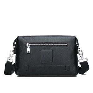 Image 4 - FEIDIKABOLO новые сумки через плечо из натуральной кожи мужская сумка мессенджер рекламная маленькая сумка через плечо деловая Мужская Сумка многофункциональная