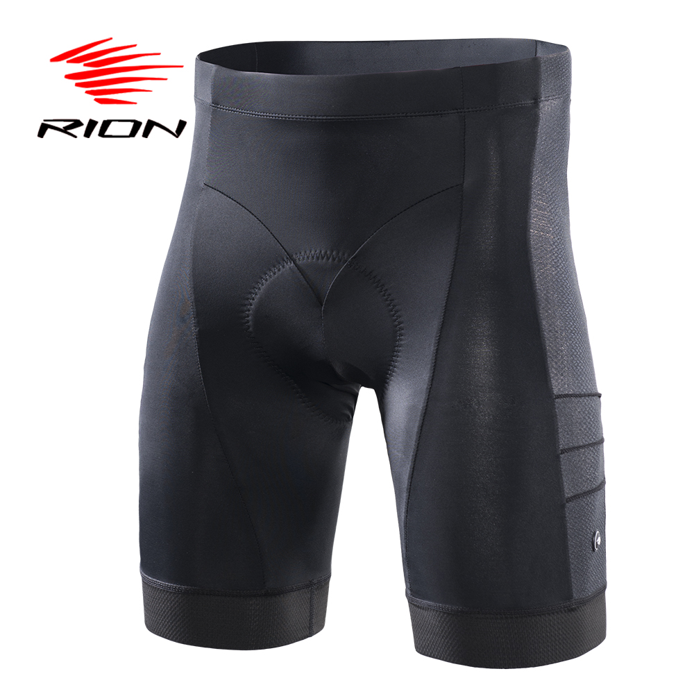 RION Gel Pad Cycling Mountain Bike Shorts Men Downhill MTB Bicycle Underpants UV Protection Quick Dry Black Underwear Shorts quick dry water resistant black gel eyeliner w brush black golden transparent 7g