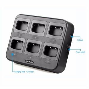 Image 2 - Зарядное устройство Retevis RTC777, шестистороннее зарядное устройство с многоцелевой защитой для Baofeng 888S, зарядное устройство для рации Retevis H777/H777 Plus