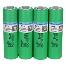 GTF 100 Original 3 7V 18650 Battery 2500mah INR1865025R 20A discharge lithium batteries font b electronic