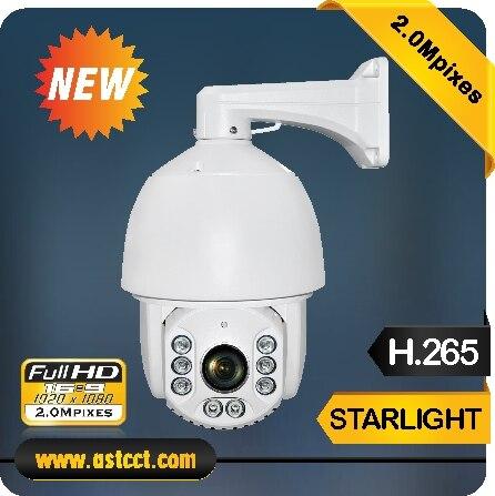 High Quality H.265 Sony 185 Starlight IP PTZ Camera Full HD 2MP High Speed Dome Camera 20X Zoom WaterProof IP 66 Security Camera top high speed full teeth piston